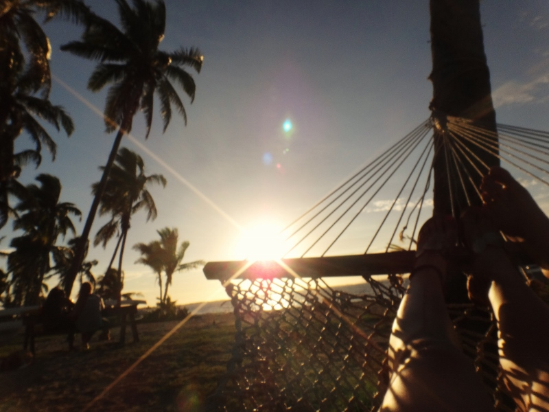 Auringonlasku Fidzillä