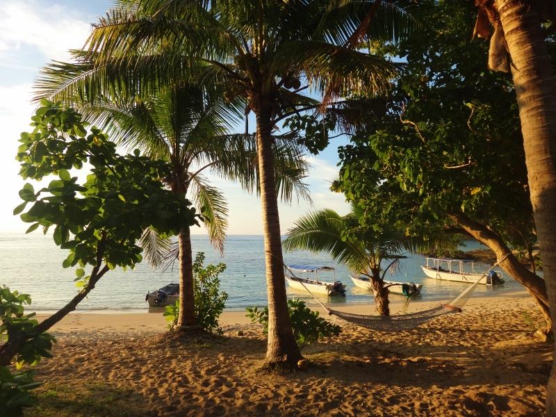 Hammock in Barefoot Island, Fiji
