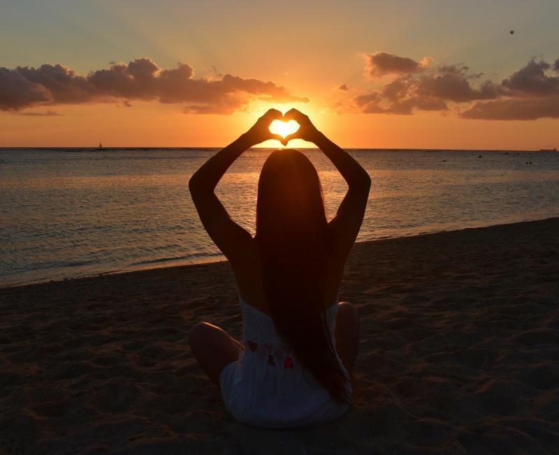 Auringonlasku sydän