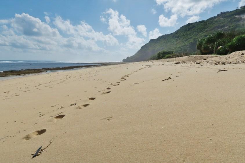Bali rauhallinen ranta