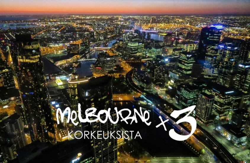 Melbourne korkeuksista x 3