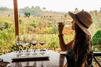 Burmalaisella viinitilalla