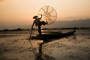 Inle-järven kalastajat