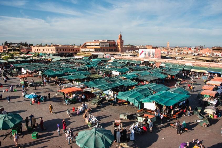 Mitä tehda Marrakeshissa - Jemaa El Fna