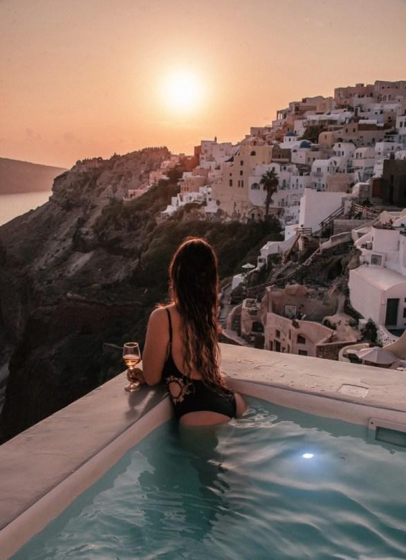 Auringonlasku, Santorini