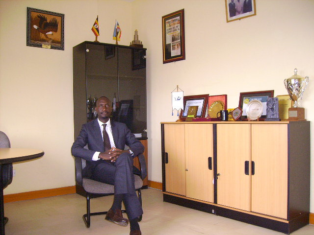 29 years old Rwakamba during his tenure as UNCC CEO.