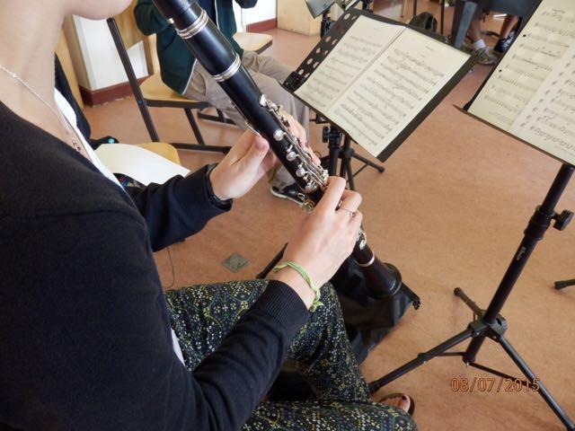Das Oberschulorchester der MuWe 2015 - Klarinette