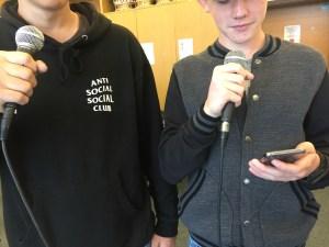 Schüler am rappen
