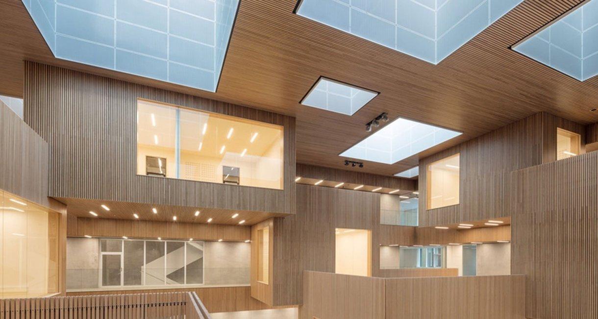 Life-Science-Bioengineering-oak-wood-building-inside
