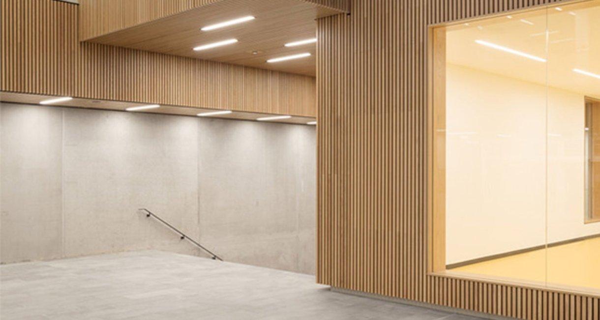 Life-Science-Bioengineering-oak-wood-building-stairway