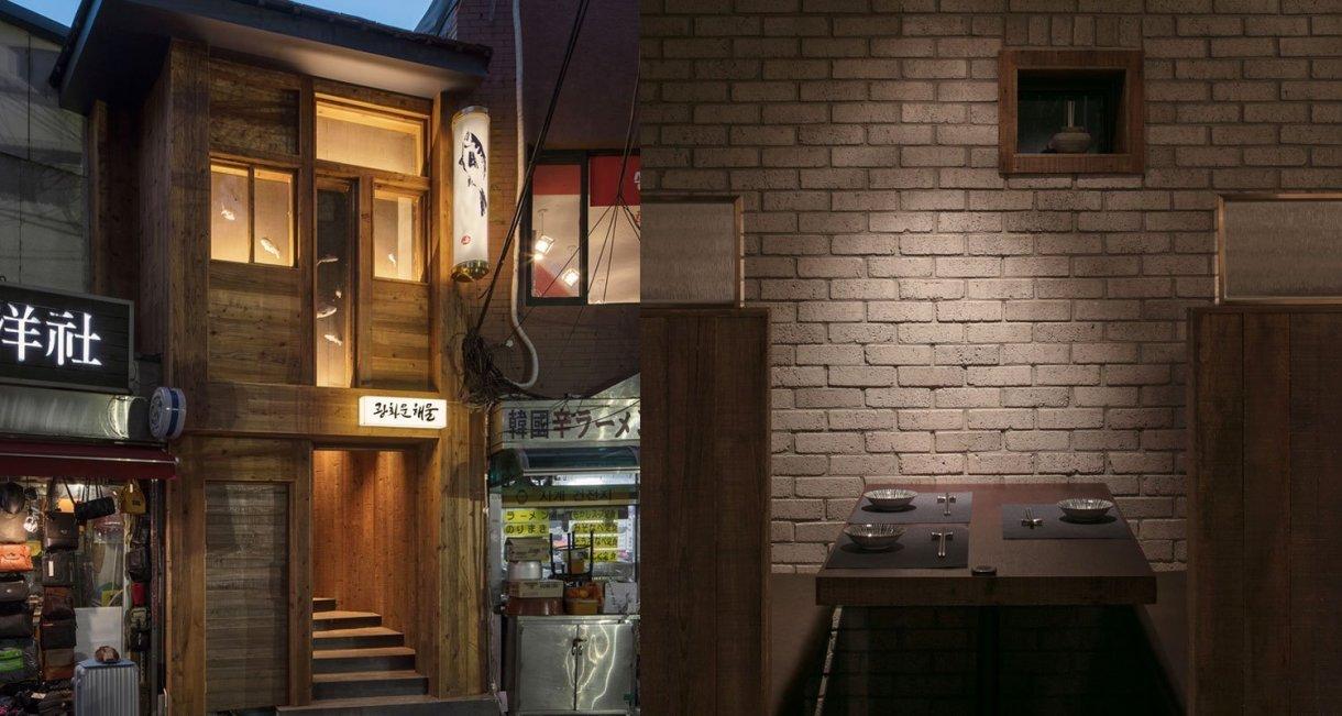 wooden-interior-korean-restaurant-GwangHwaMunHaeMu-table-outside