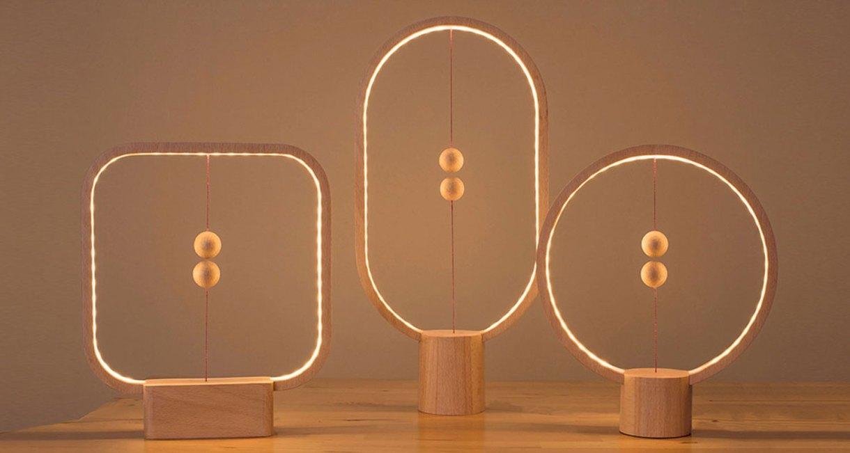 magnetic-wood-Heng Ellipse Balance Lamp