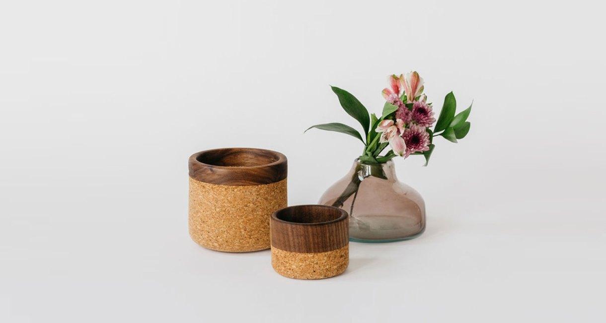 Cork Wood Bowls