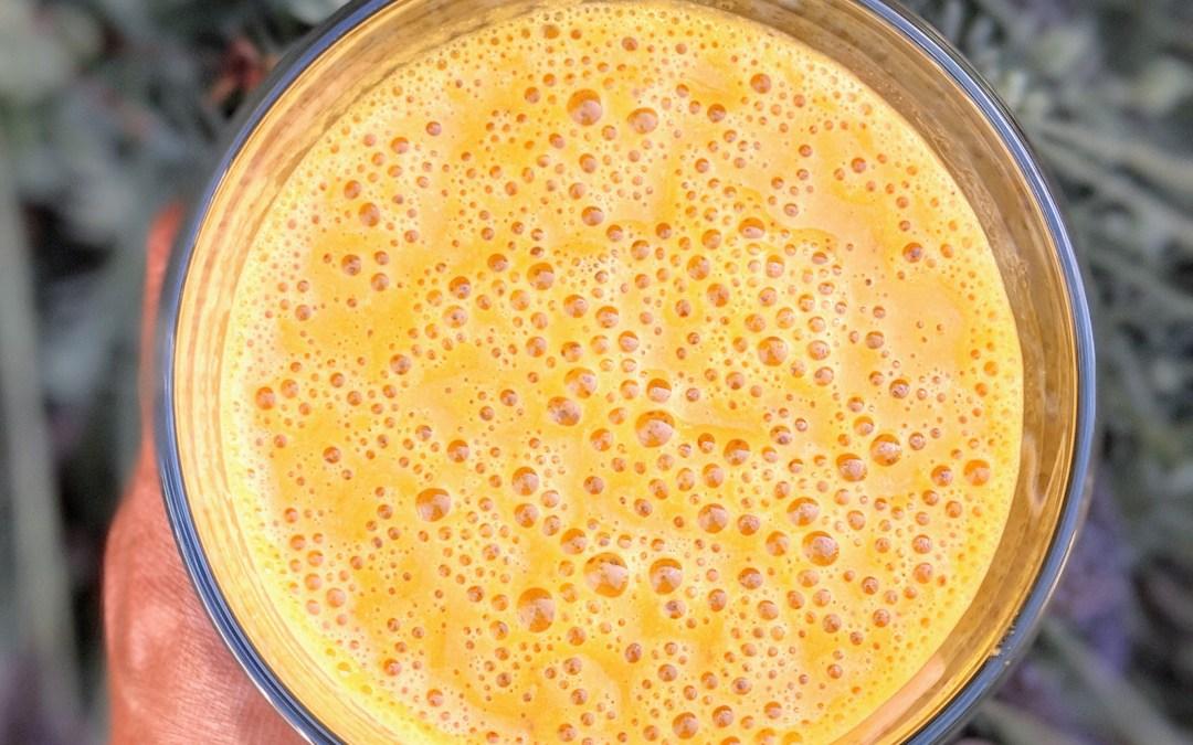 Orange Glow Smoothie (Carrot, peach, banana)
