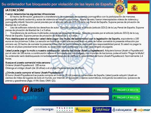 Virus de la Policia (Ransomware)