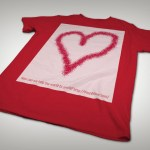 Squid heart t-shirt angle