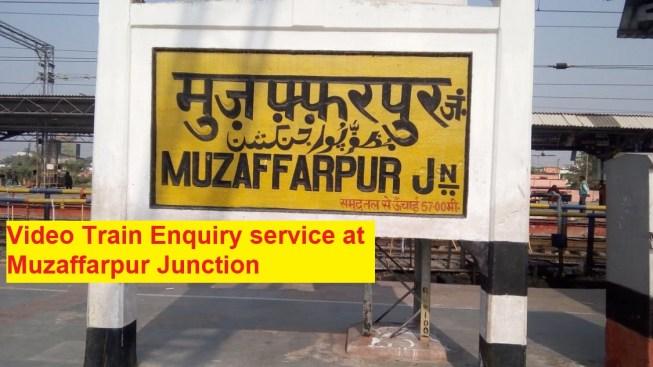 Muzaffarpur JUnction Train Enquiry system