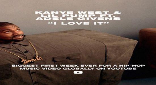 """Kanye West & Lil Pump ft. Adele Givens - """"I Love It"""" czasoumilacz"""