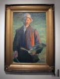 """Leon Wyczółkowski """"Autoportret z paletą""""; fot. Aleksandra"""