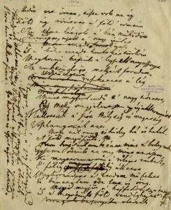 Az Előszó fogalmazványának kézirata