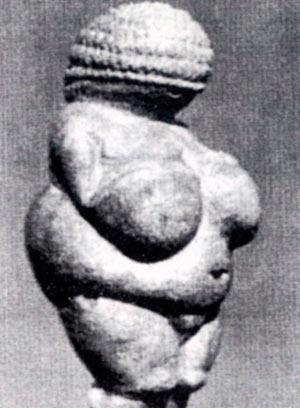 Таканараечената Венера од Вилендорф, Аустриа, е најраната најдена скулптура која датира меѓу 30.000 и 25.000 г.пред н.е. Се мисли дека ја симболизирала плодноста со што се толкува нагласената женска анатомија.