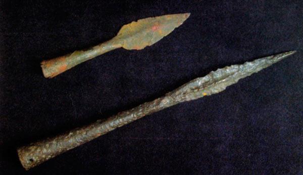 Железни копја кои се вметнувале на дрвени прачки; Висои, Беранци