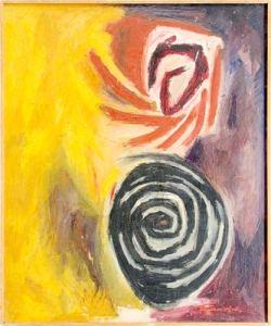 "Art painting ""Spirals"" – contemporary art, author Borislav Traikovski"