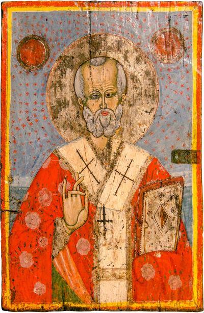 Икона од црквата Свети Богородица во село Велушина, претстава на Свети Никола
