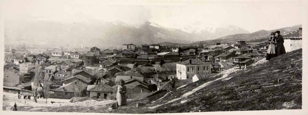 Panoramic photograph looking over the city of Monastir (Bitola)