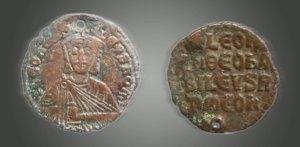Византиска монета на ЛАВ VI (886-912г.)
