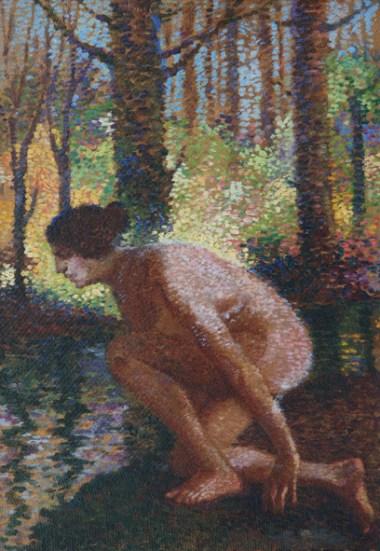 Dimitrie Cabadaeff_Peisaj baimarean cu nud feminin