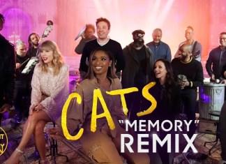 """Taylor Swift i Jason Derulo śpiewają """"Memory"""" u Jimmy'ego Fallona"""