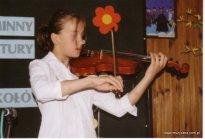 Iza Koc jako uczestnik konkursu muzycznego.