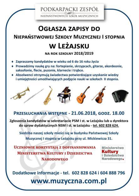 Leżajsk (www) - ZAPISY 2018