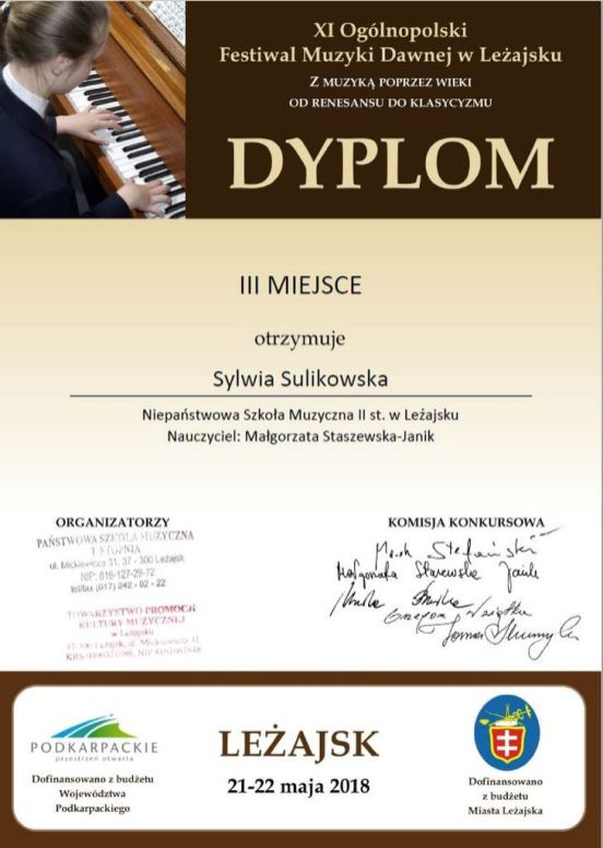 Sylwia Sulikowska - dyplom