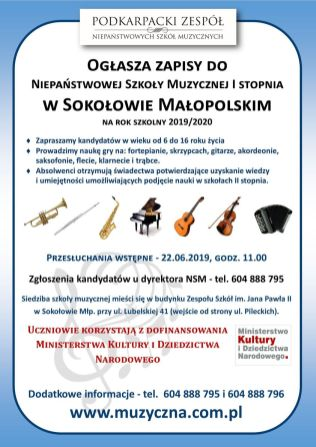 Sokołów WWW - ZAPISY 2019