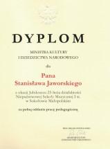 Stanisław Jaworski - dyplom