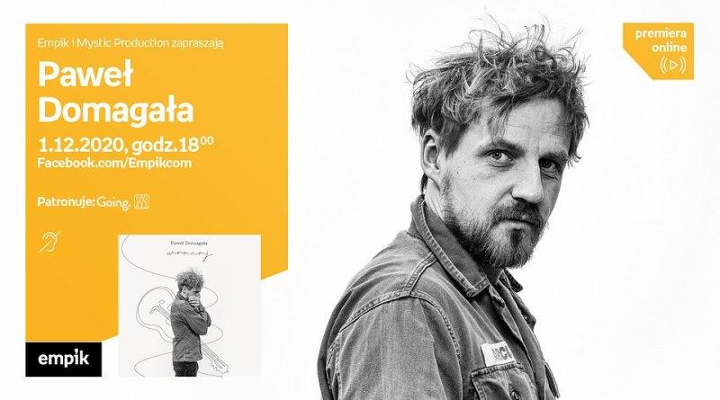 Paweł Domagała na spotkaniu online w Empiku