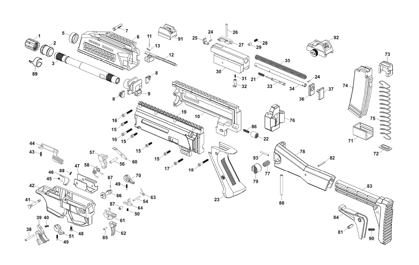 Cz Scorpion Evo 3 S1 Parts Diagram