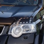 Front Eyelids Eyebrows Headlights Covers For Nissan X Trail Ii
