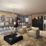 Perspectiva do living - Apartamento Tipo A