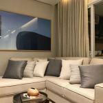 Foto do living do apartamento decorado do Pituba Dolce Vita