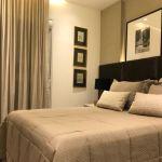 Foto da suite master do apartamento decorado do Pituba Dolce Vita