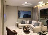 Foto do living do apartamento decorado