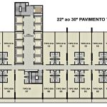 Planta baixa do 22º ao 30º andar do Empresarial ITC Salvador