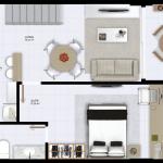 Cobertura Pavimento Inferior - 98 m² de área privativa