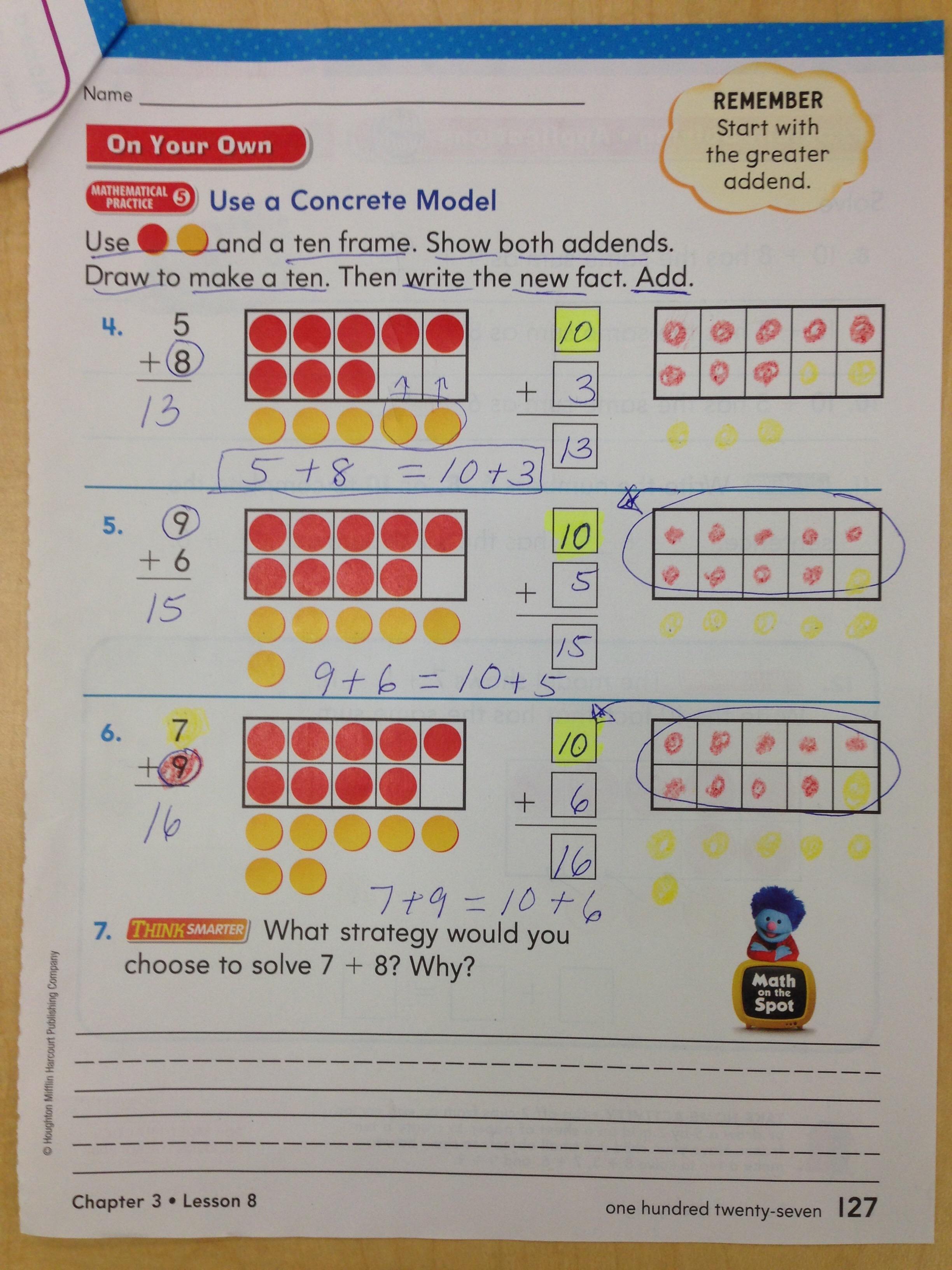 Lesson 3 8 Make A Ten To Add
