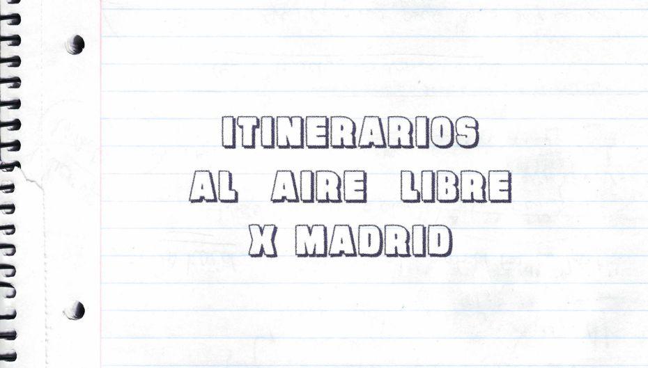 Itinerarios al aire libre x Madrid (portada)