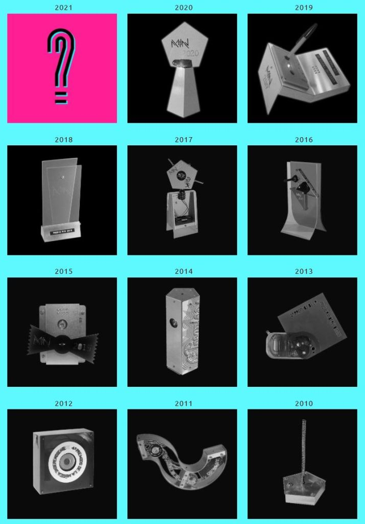 Premios MIN diseños de trofeos