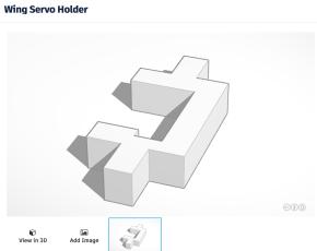 3D Servo Holder